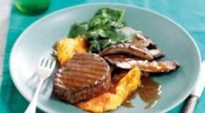 Biefstuk met portobello en pepersaus